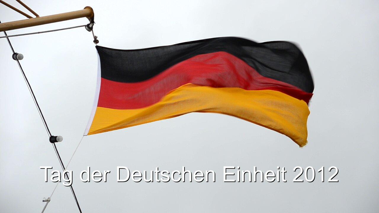 Wehende Fahnen zum Tag der deutschen Einheit