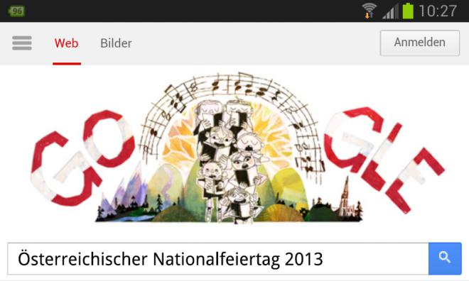 Österreichischer Nationalfeiertag 2013 Doodle